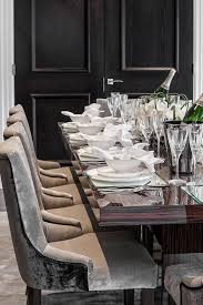 Made Dining Chairs Classic Contemporary Dining Room In Subtle Tones Of Grey