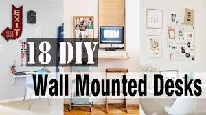 Wall Mounted Desk Diy 18 Diy Wall Mounted Desks