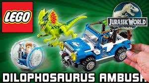 lego jurassic world jeep lego jurassic world set dilophosaurus ambush 75916 gyrosphere play