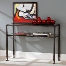 glass and metal sofa table foter