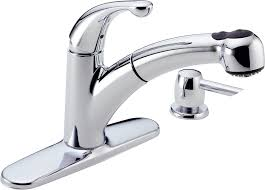 Leaking Single Handle Kitchen Faucet by Delta 467 Sd Dst Palo Single Handle Pull Out Kitchen Faucet With