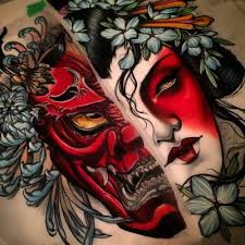 wonderful face and japanese demon tattoo golfian com