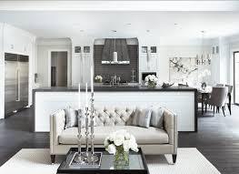 open floor plan design transitional living room staples