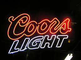 vintage coors light neon sign coors light neon beer sign follow us on facebook anything goes