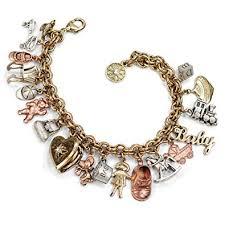 charm bracelet gold vintage images Mother 39 s memories baby childhood vintage charm jpg
