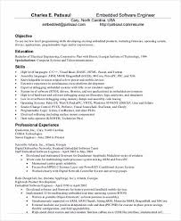 Objective For Electrical Engineer Resume Objective For Software Engineer Resume Software Developer Resume
