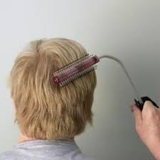 hair cuff handle angled hair brush with cuff grooming aid for