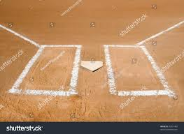 Home Plate Baseball Baseball Home Plate Batter Boxes Freshly Stock Photo 50957482
