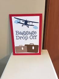 baggage drop sign vintage airplane decorations