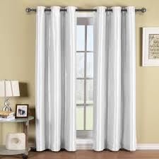 amazon com soho white grommet blackout window curtain panel