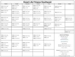 the new fitness class schedule fitness center