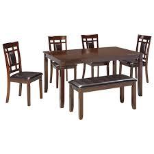 signature design by ashley bennox contemporary 6 piece dining room