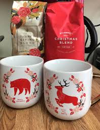 holiday blends and our cute mugs from target starbucks