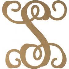 monogram letter s 12 wood letter vine monogram s ab2214 craftoutlet