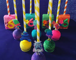 themed cake pops cake pop troll etsy