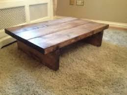 Walnut Coffee Table Solid Wood Handmade Walnut Coffee Table 100 X 60 X 35 Ebay