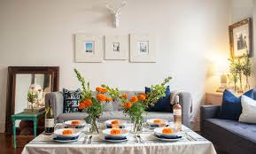 no dining room how to host a dinner party sans dining room or table
