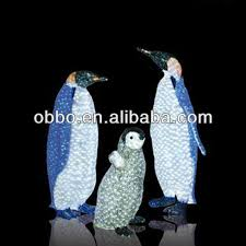 penguin light outdoor lights card and decore