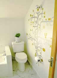 Bathroom Mural Ideas by Bathroom Plush Tiny Bathroom Decor Idea With Modern Bath