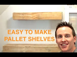 rustic wood pallet floating shelves pallet projects youtube