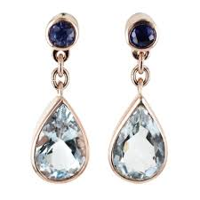 aquamarine drop earrings aquamarine drop earrings from browns family jewellers