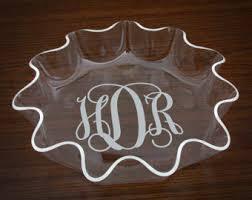 monogrammed serving dishes monogrammed bowl etsy