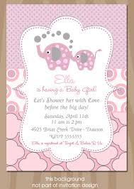 girl baby shower invitations elephant baby shower invitation elephant showers pink and gray