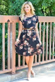 black pink fall floral modest church dress modest bridesmaids
