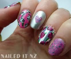 nailed it nz shaaanxo inspired nail art pink roses