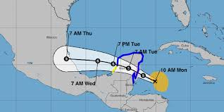 Map Cozumel Mexico by Tropical Storm Franklin Nears Mexico U0027s Yucatan Peninsula