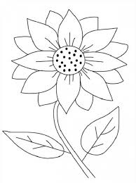 And Hearts Clipart To Color Sunflower Coloring Page