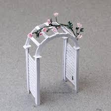 printable miniature arched garden arbor plans