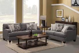 homelegance furnishing mayflower charcoal chenille sofa set usa