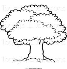 tree clipart black and white clipartion