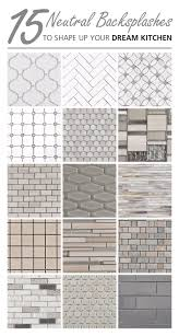 Neutral Kitchen Backsplash Ideas Arabesque Elongated Hexagon And Penny Tiles These Neutral