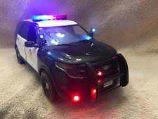 toy police cars with working lights and sirens for sale 1 18 lapd diecast modern manufacture ebay