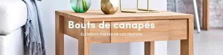 bout de canap bois bout de canapé bois vente bouts de canape design tikamoon