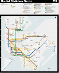 New York Transit Map by News Official 2012 Vignelli New York Subway Transit Maps