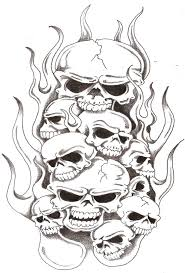 Mexican Flag Eagle Skulls And Flames 2 By Thelob On Deviantart