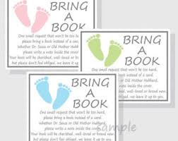 books instead of cards for baby shower poem book instead of card etsy