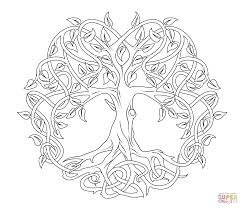 celtic mandala coloring pages celtic tree of life coloring page