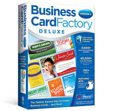 Business Card Template Software Business Card Factory Deluxe 4 0 Avanquest