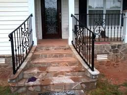 wrought iron handrails stair railing installation wrought iron