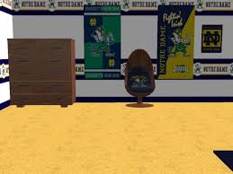 mod the sims notre dame football bedroom for bluegraysky