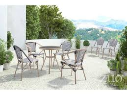 Zuo Outdoor Furniture by Zuo Outdoor Paris Aluminum Wicker Bistro Set Prisdinset4