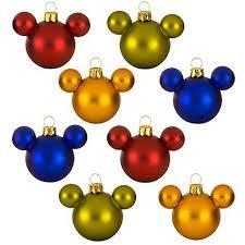 your wdw store disney ornament set glass mini mickey ears rainbow