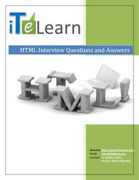 html basics interview questions and answers
