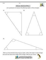 printable geometry worksheets angle measuring 4 math pinterest