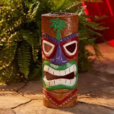 Tiki Solar Lights by Tiki Log Statue B Outdoor Living Outdoor Decor Lawn