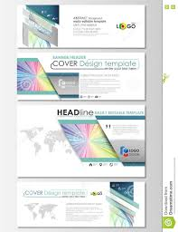 social media and email headers set modern banners business cover